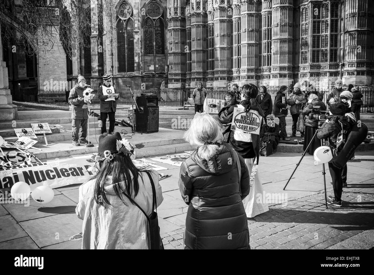 Demonstration, Old Palace Yard, London - Stock Image