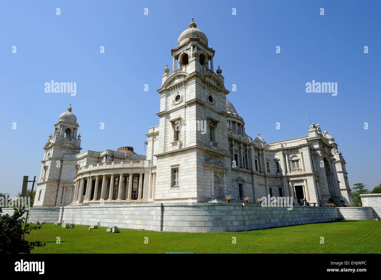 Victoria Memorial in Kolkata - Stock Image