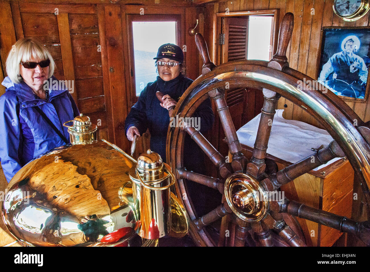 The M/V Yavari was a steam powered metal boat ordered by the Peruvian government in 1861 and launched in 1870. - Stock Image
