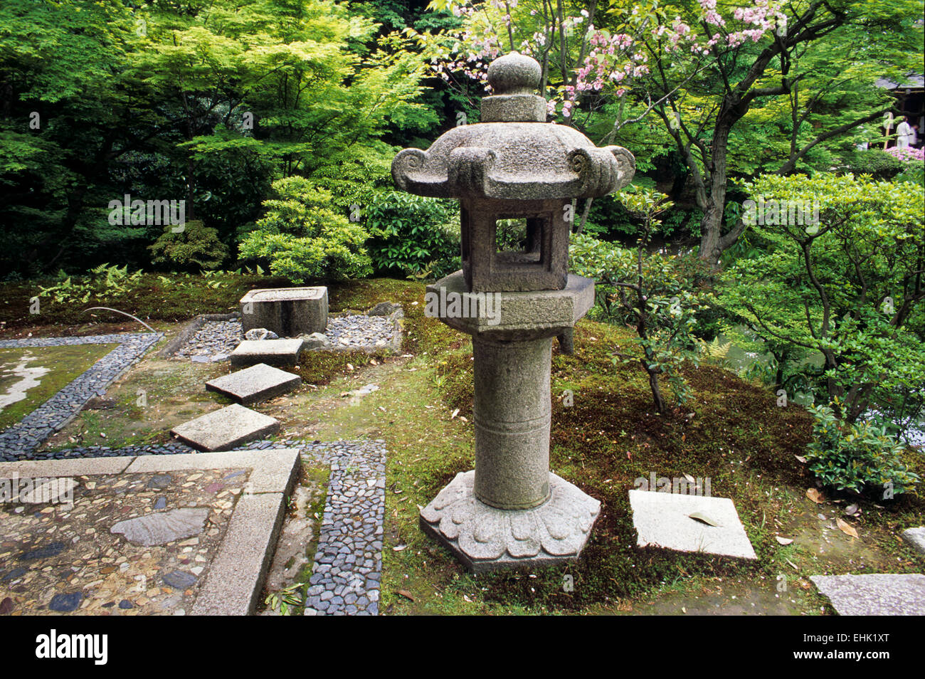 The City of Kyoto is a unique reserve for ancient Zen gardens and shrines that are over nine hundred years old. - Stock Image