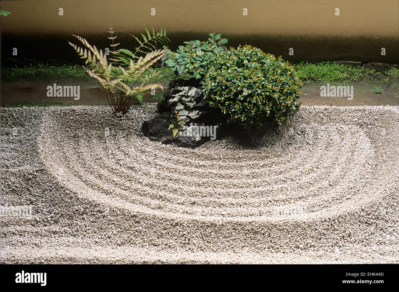 The Ryogen-in is a subtemple of Daitokuji and is one of several Zen gardens that were founded in the 15th century. - Stock Image