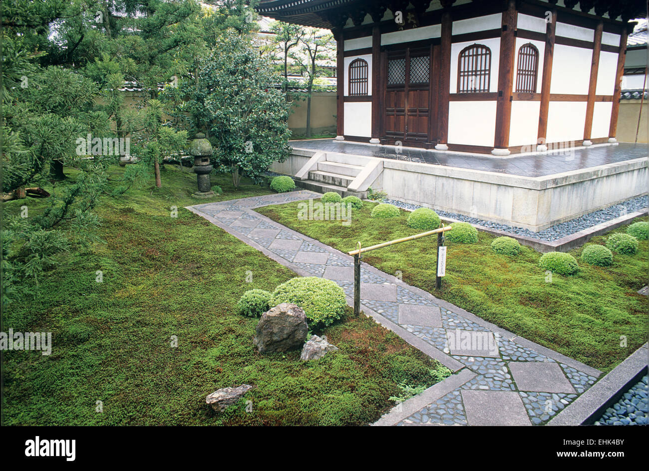 Ryogen-in is a subtemple of Daitokuji and is one of several Zen gardens that were founded in the 15th century. - Stock Image