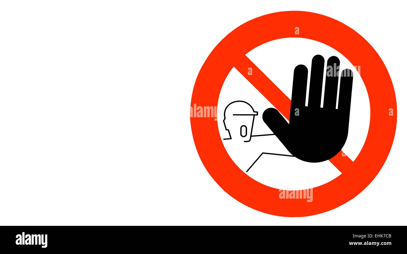 No entry sign, this is italian sign, No entry for people. - Stock Image