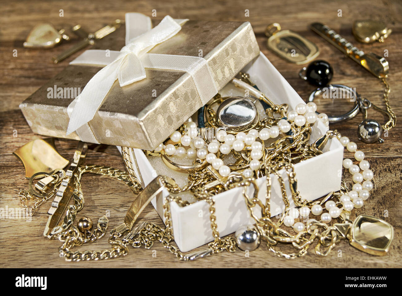 family jewels - Stock Image