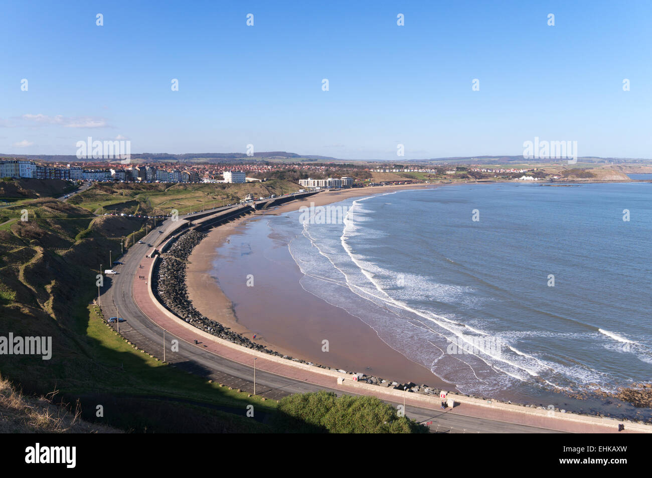 The North Bay and beach Scarborough, North Yorkshire, UK - Stock Image