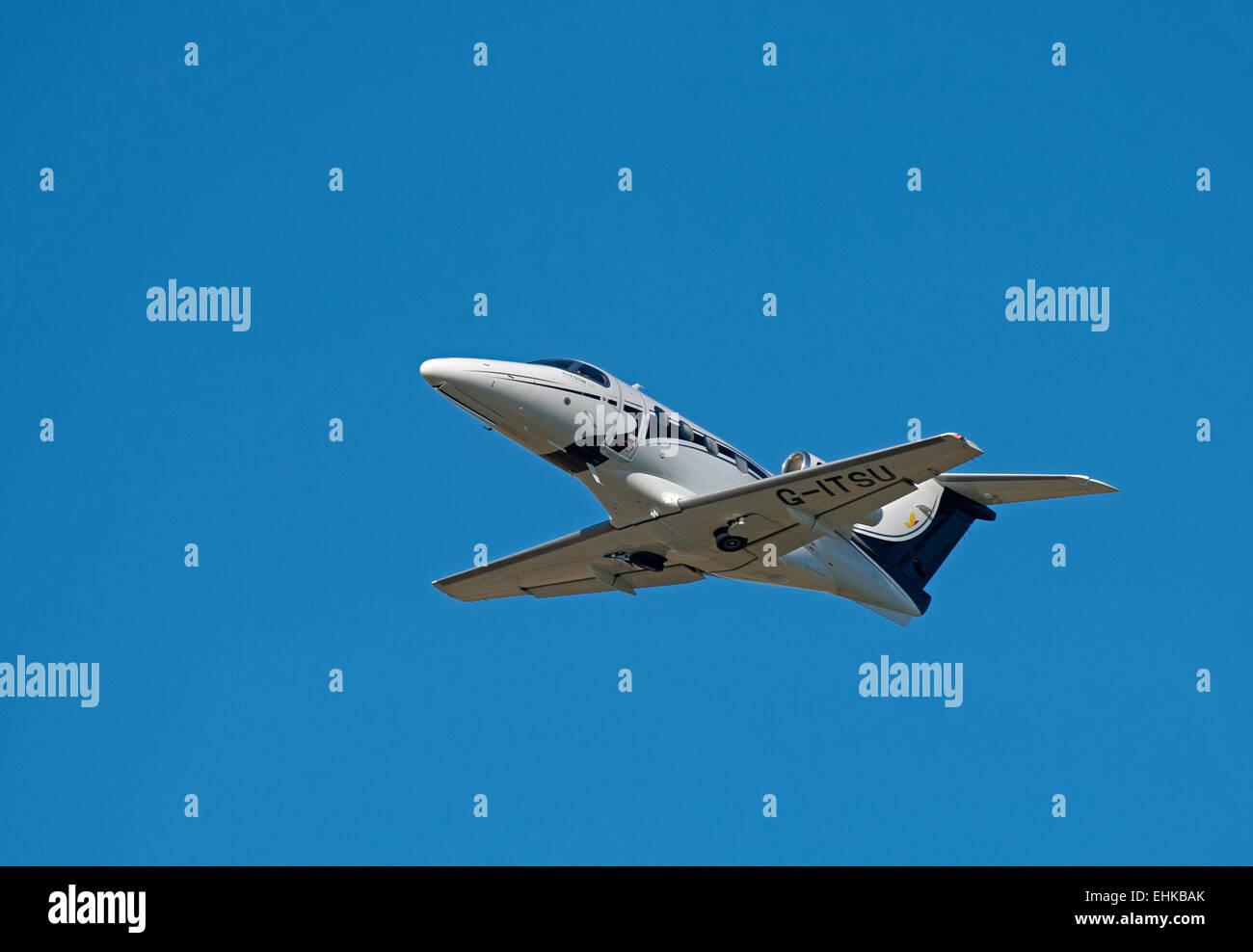 Brazilian built Phenom 100 Light Twin Engined private jet.   SCO 9641. - Stock Image