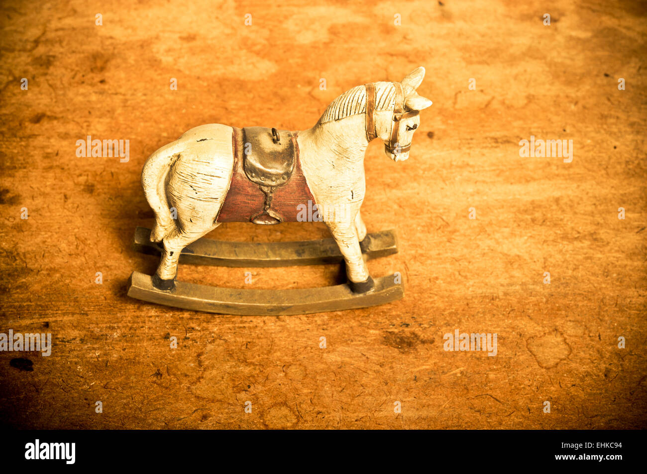 Vintage Wooden Rocking Horse Toy Stock Photo Alamy
