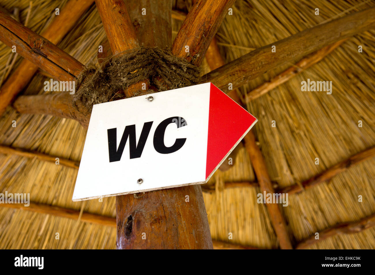 WC sign - Stock Image