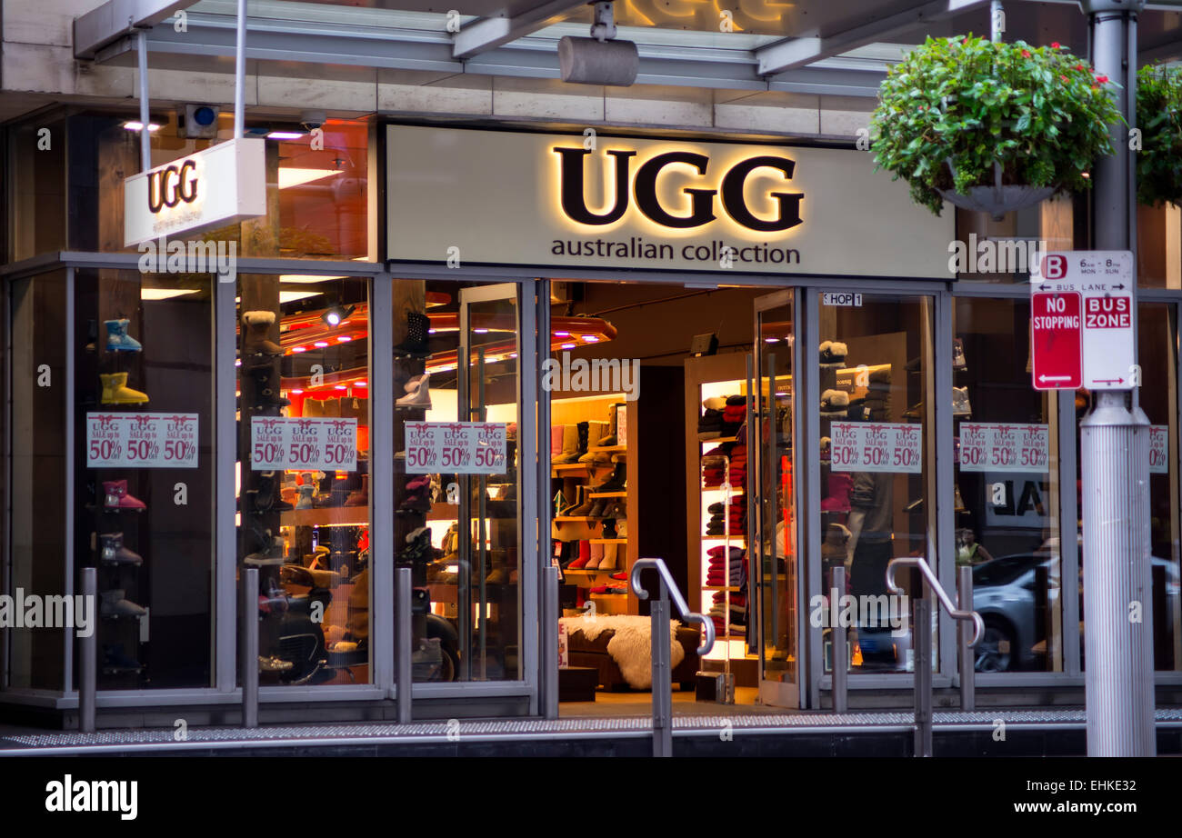 Detail of the UGG Australia store in Sydney 9f6c83684c6d