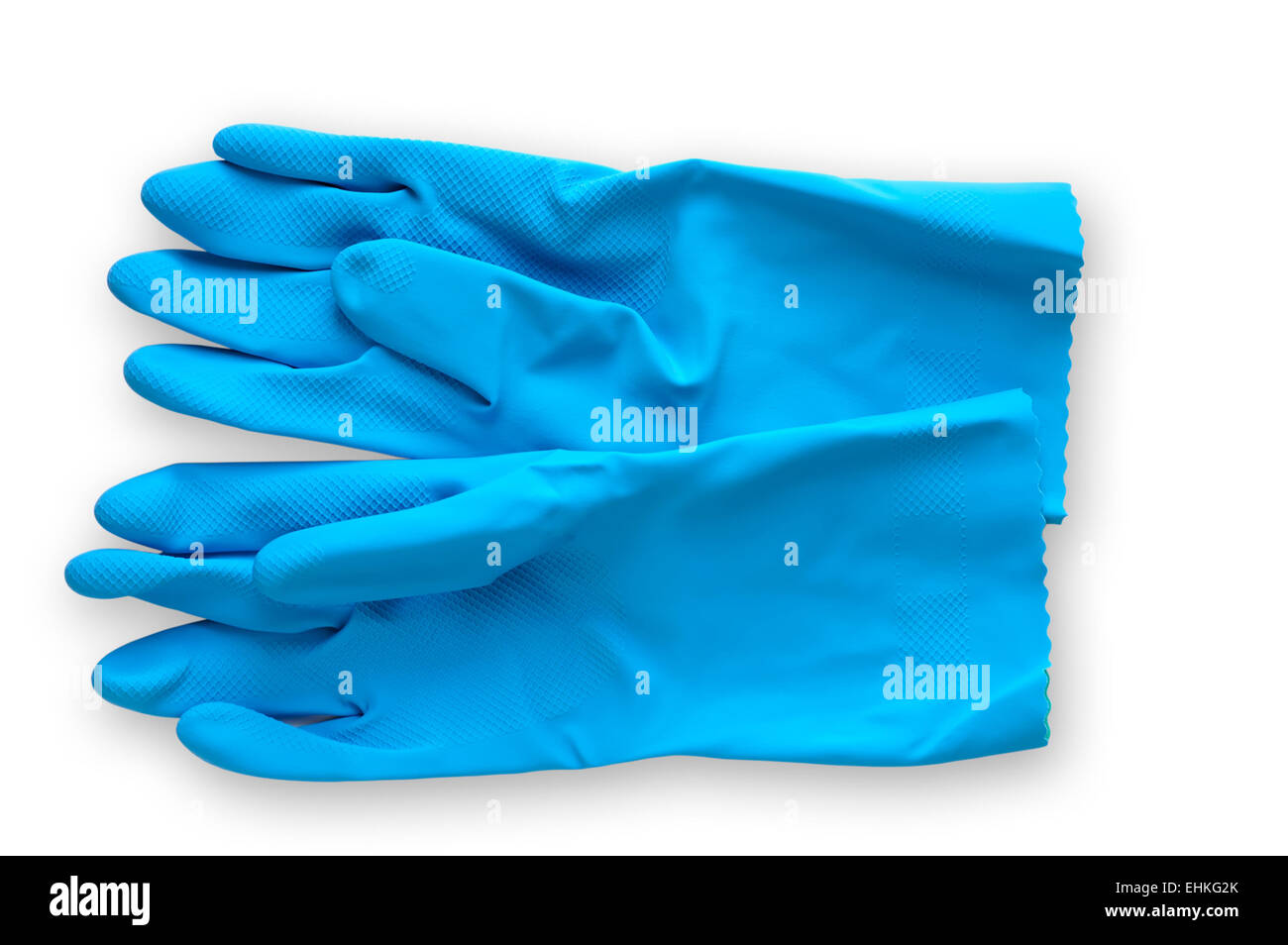 Work tool : rubber gloves with clipping path - Stock Image