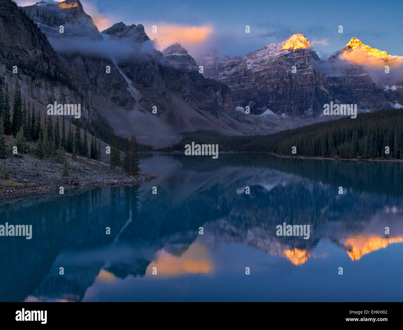 Moraine Lake. Banff National Park. Alberta Canada. Stock Photo