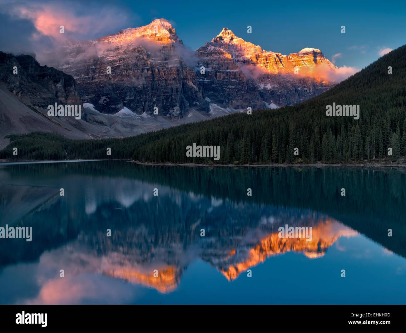 Moraine Lake. Banff National Park. Alberta Canada. - Stock Image