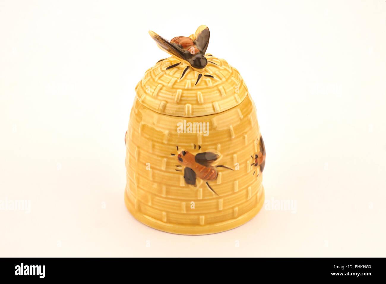 Pottery Honey Pot Ceramic Jar with Lid Honey Jar Rustic Pottery Pottery Honey Pot Ceramic Honey Jar