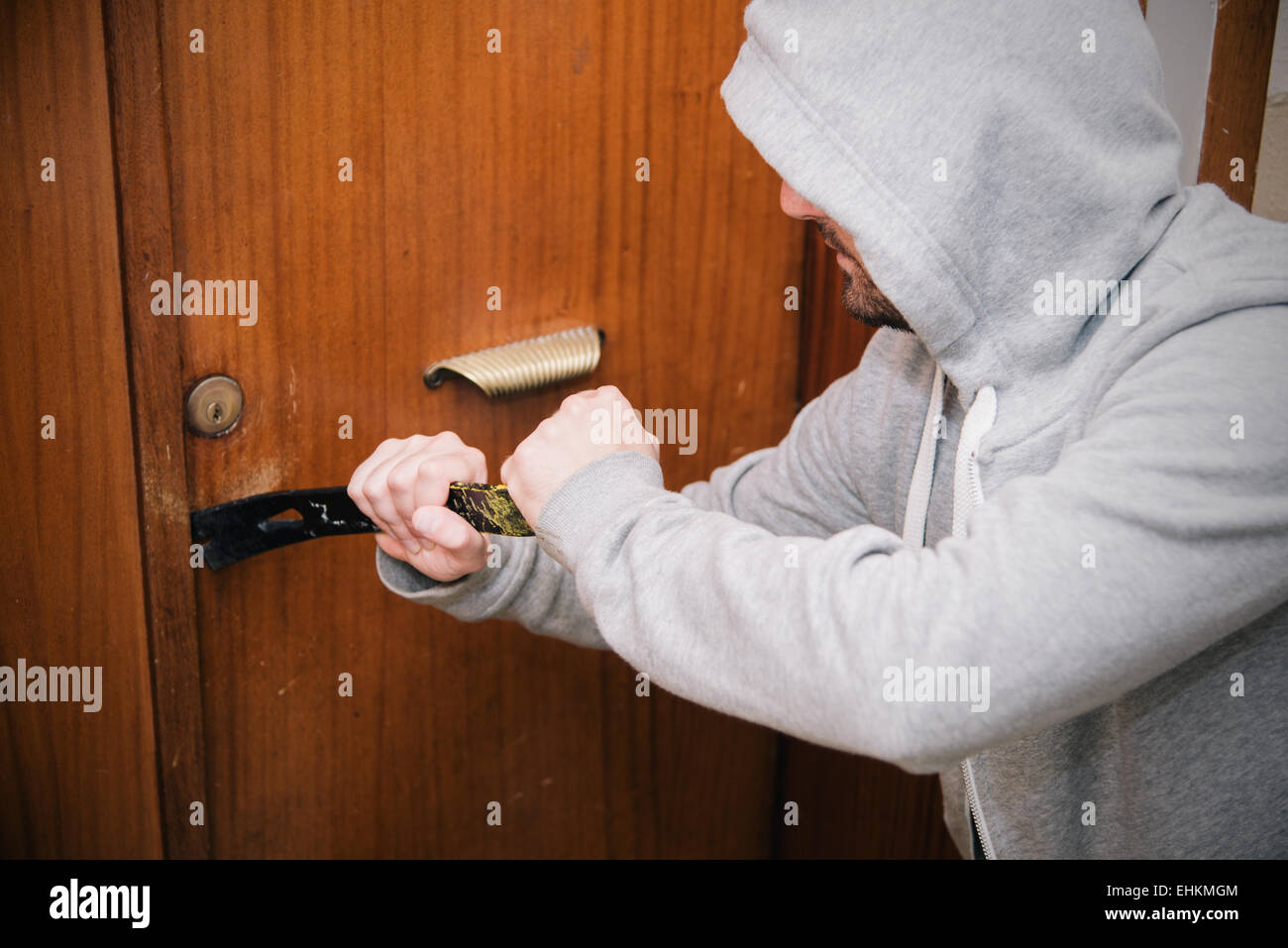 A scene of theft house - Stock Image