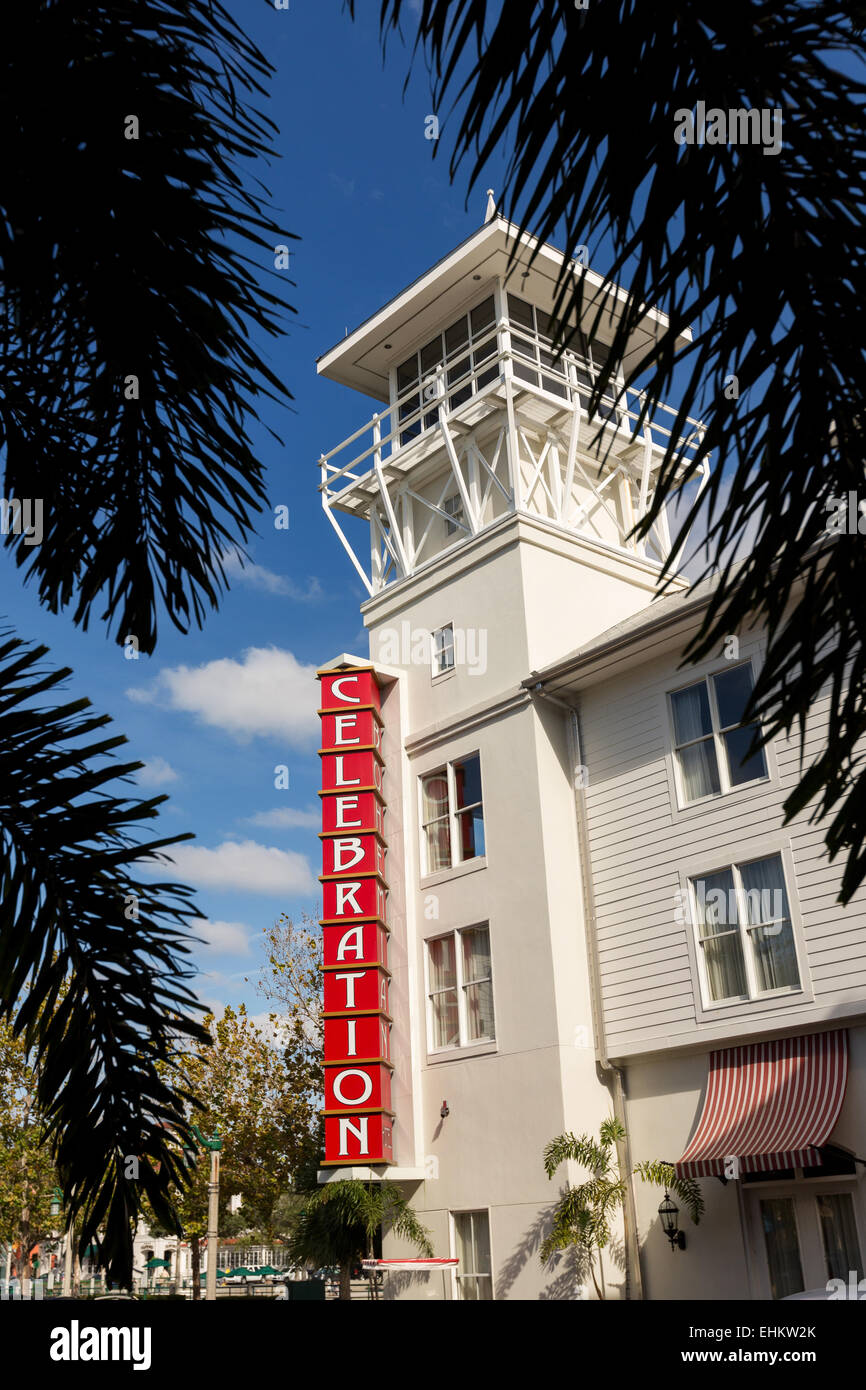 Bohemian Hotel in the Disney created master planned community of Celebration, Florida. - Stock Image