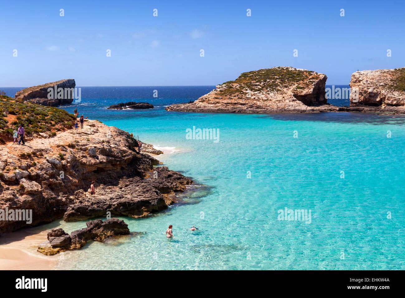 Blue Lagoon Comino Island Malta Stock Photo 79727434 Alamy