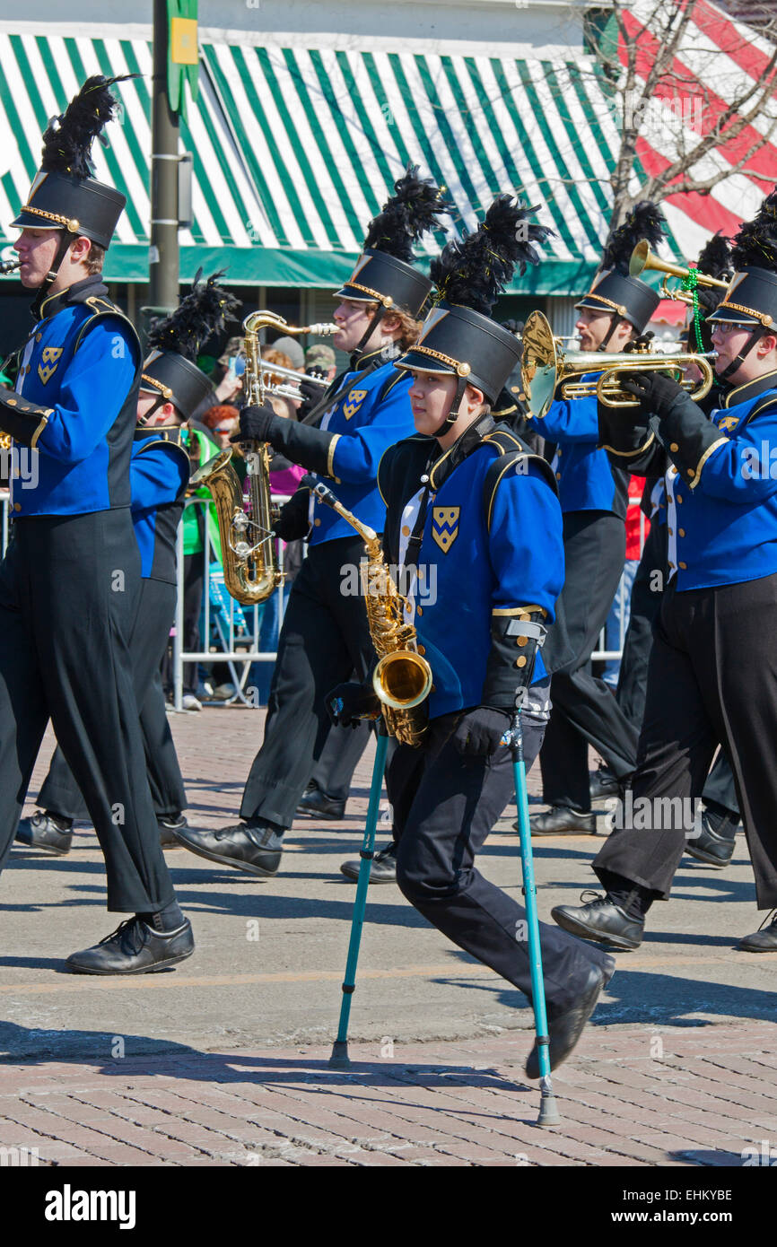 Detroit, Michigan, USA. 15th March, 2015. St. Patrick's Day is celebrated with a parade on the Sunday before - Stock Image