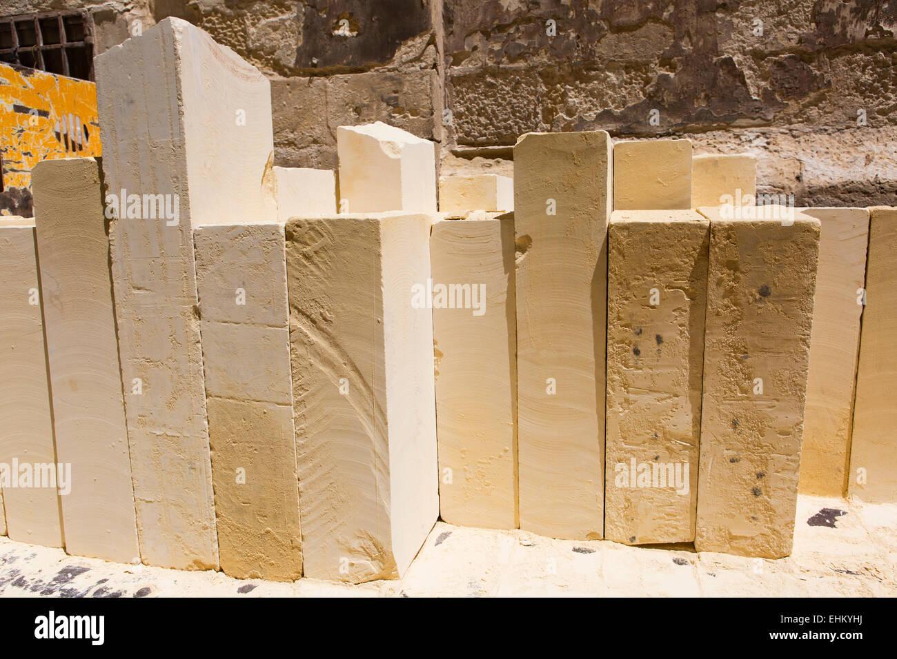 Malta, Valletta limestone - Stock Image