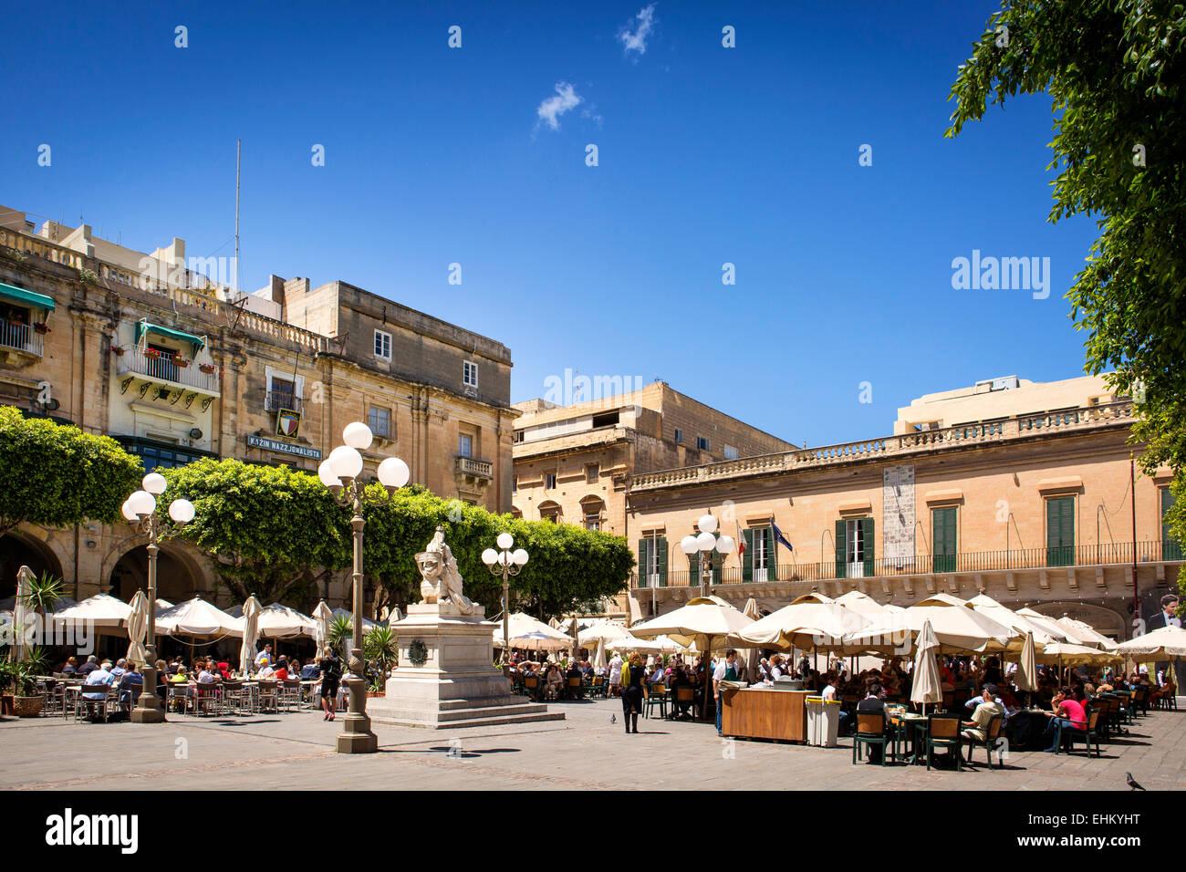 Malta, Valletta square - Stock Image