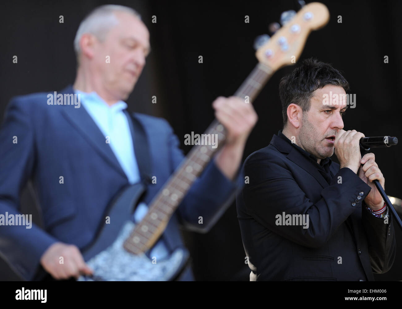 Santiago, Chile. 15th Mar, 2015. Members of the British band 'The Specials', perform during the presentation - Stock Image