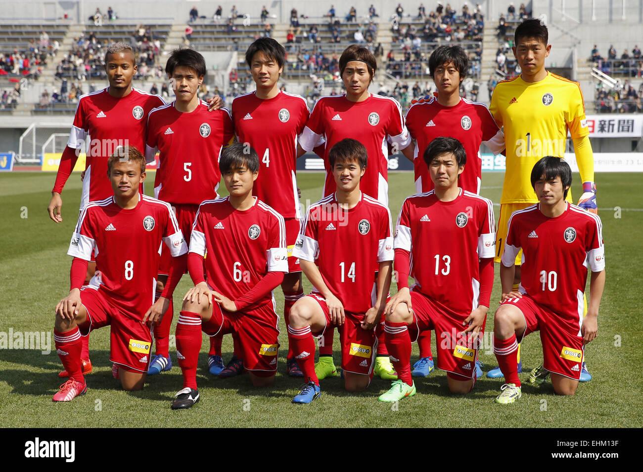 Kanagawa Japan 15th Mar 2015 U 22 J League Selection Team Group