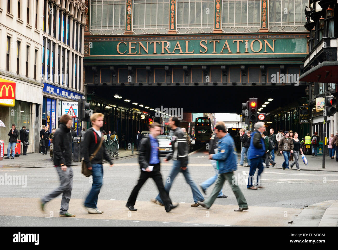 Glasgow Central station - Stock Image