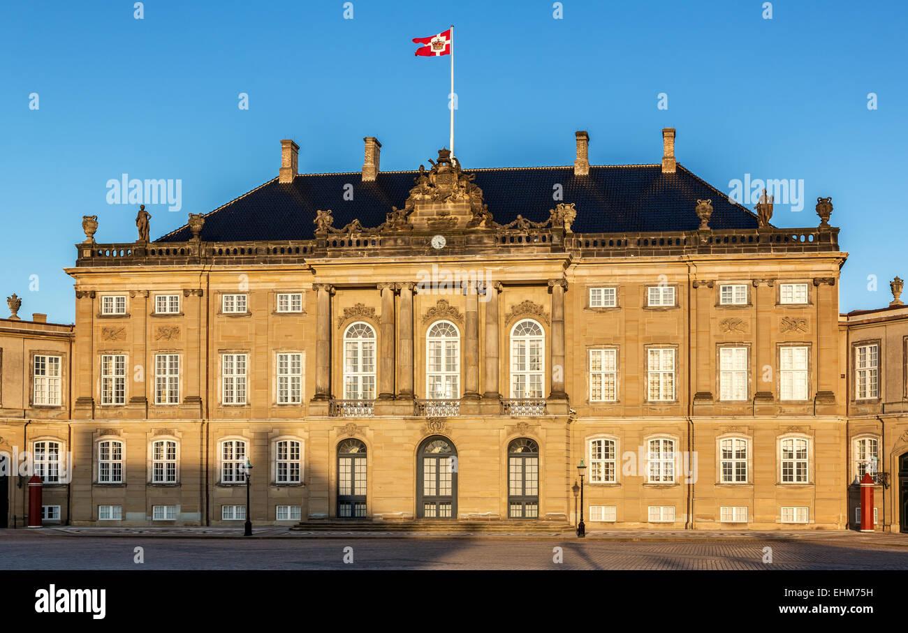 Amalienborg Palace, Copenhagen, Denmark, Scandinavia - Stock Image