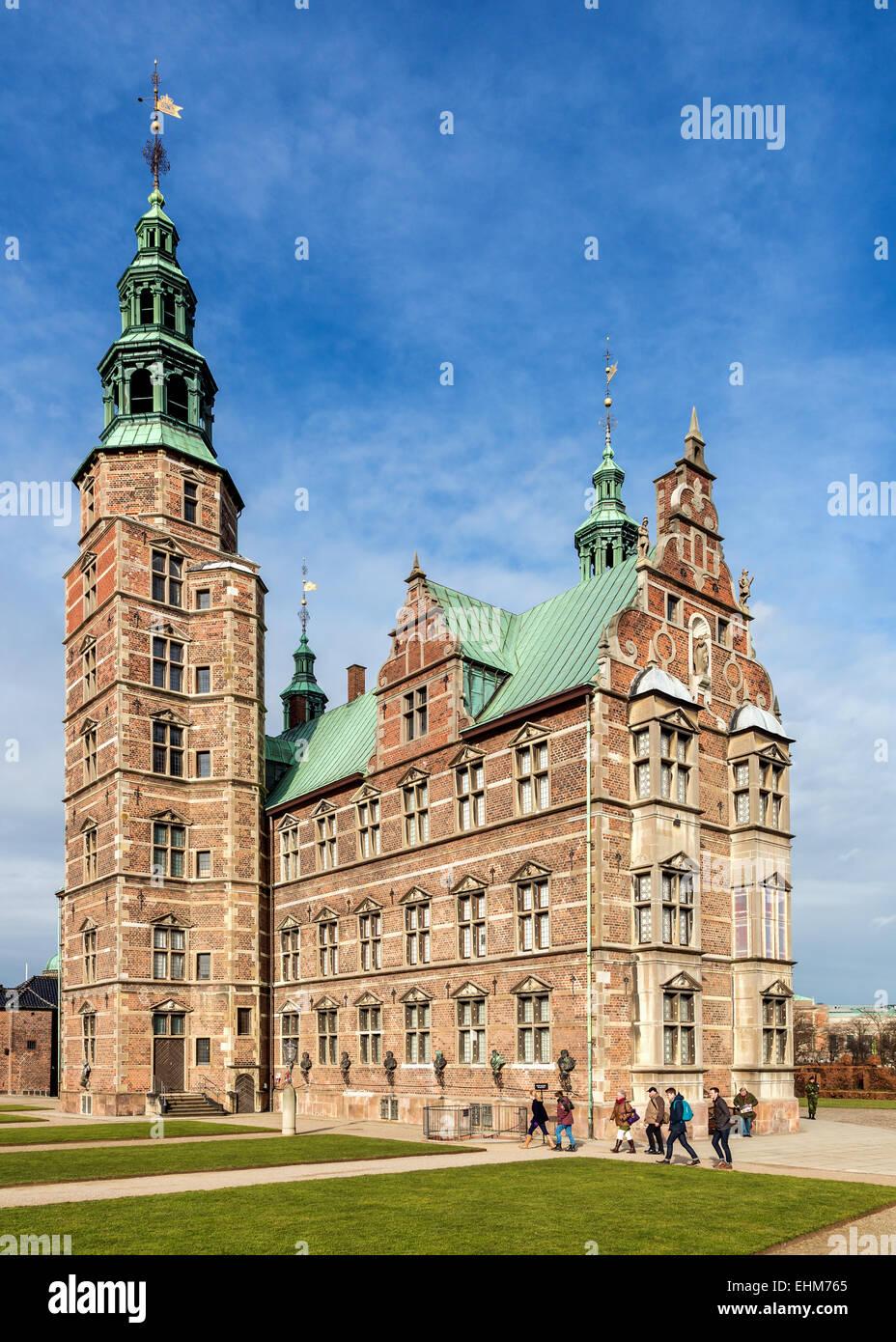 Rosenborg Castle, Copenhagen, Denmark - Stock Image