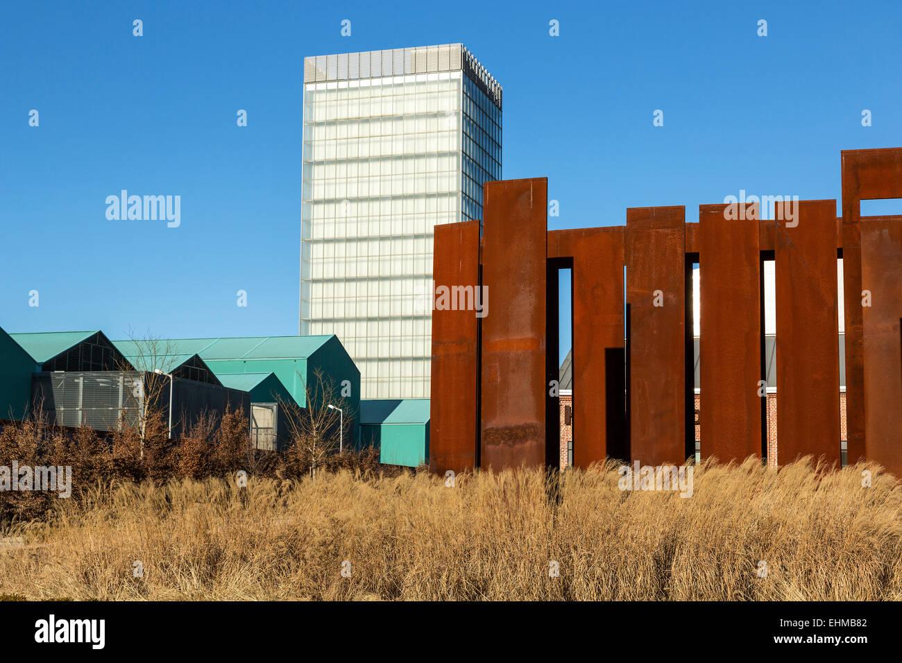 Hangar Bicocca, art, museum, architecture, industrial area, Milan Stock Photo