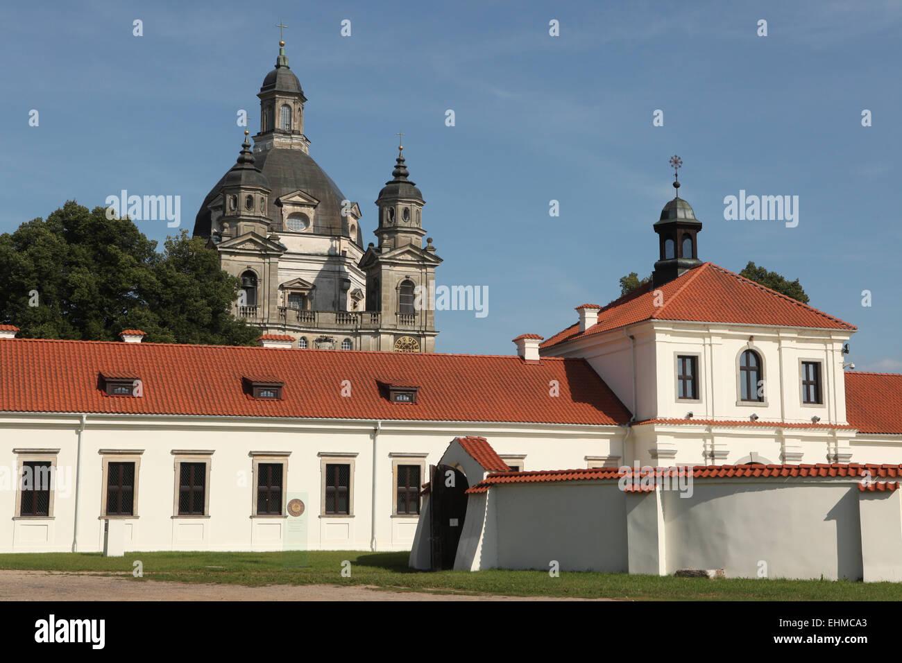 Pazaislis monastery in Kaunas, Lithuania. - Stock Image