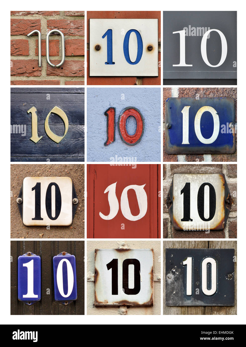 Number 10 - Collage of Numbers Ten Stock Photo - Alamy