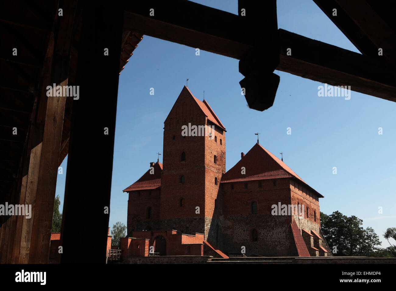 Trakai Island Castle near Vilnius, Lithuania. - Stock Image