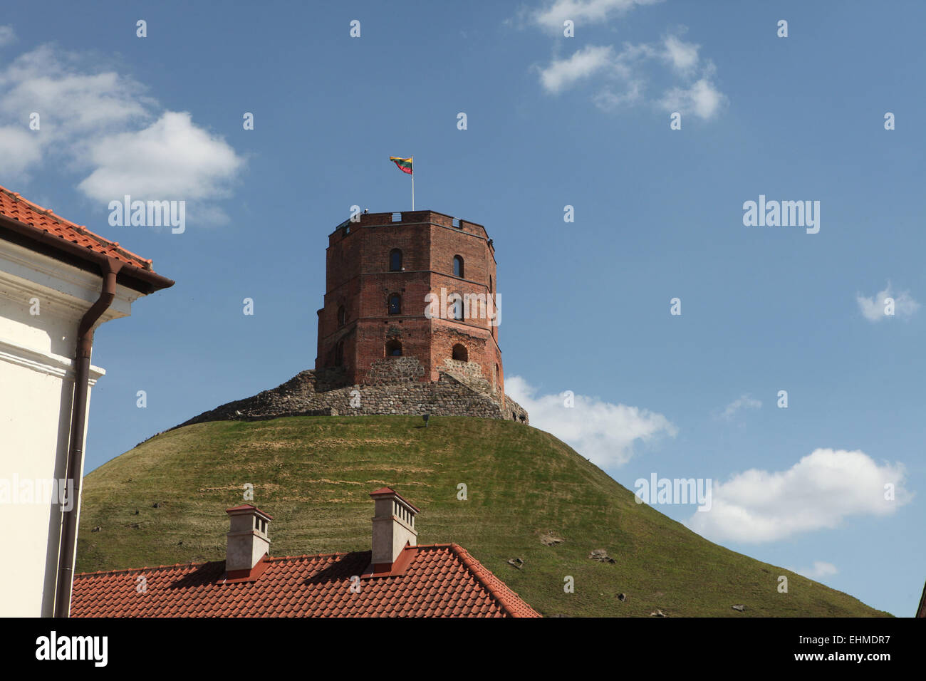 Gediminas Tower in Vilnius, Lithuania. - Stock Image