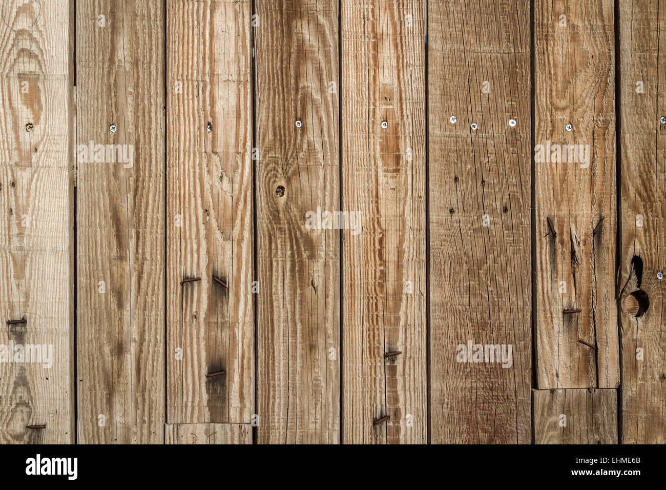 Rustic Weathered Old Barn Wood Background With Knots And