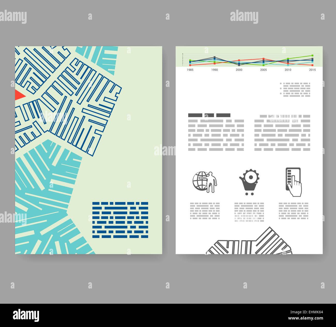 flyer leaflet booklet layout editable design template a4 2 fold