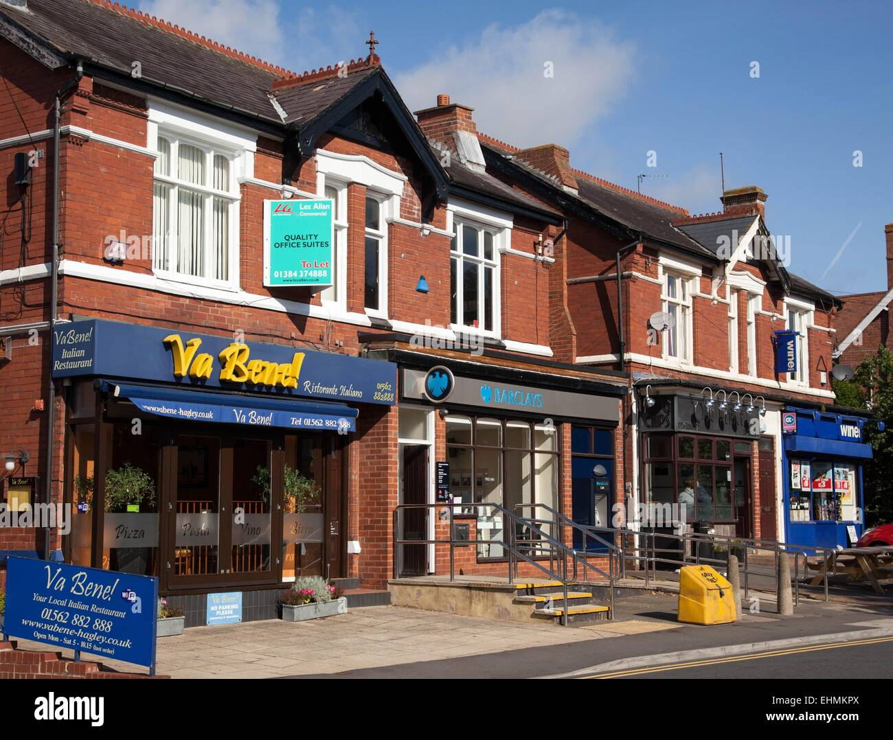 Shopping facilities in Hagley, West Midlands - Stock Image