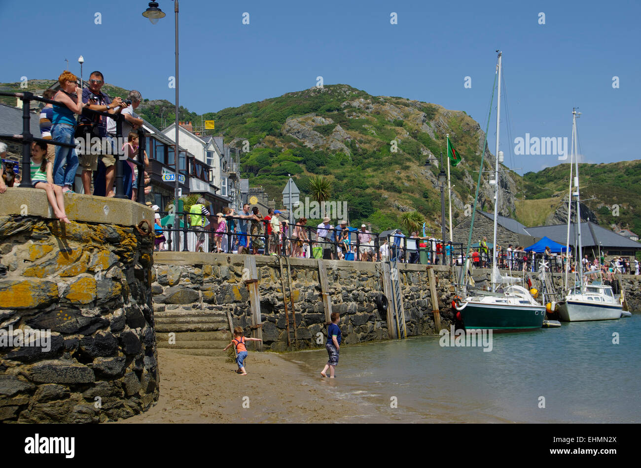 Harbour, Barmouth, Gwynedd, North West Wales - Stock Image