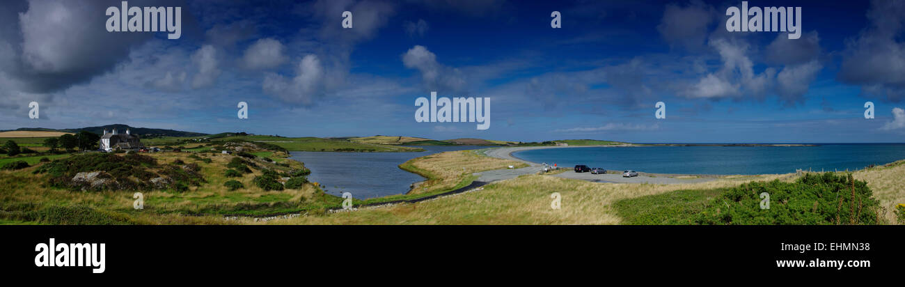 Cemlyn Bay, Anglesey, North West Wales - Stock Image
