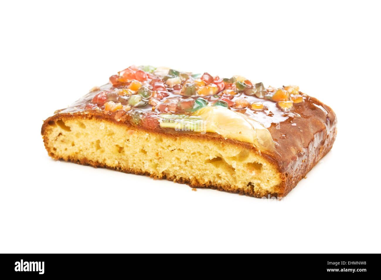 tart isolated on white background - Stock Image