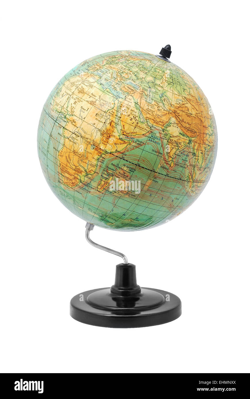 earth globe isolated on white - Stock Image