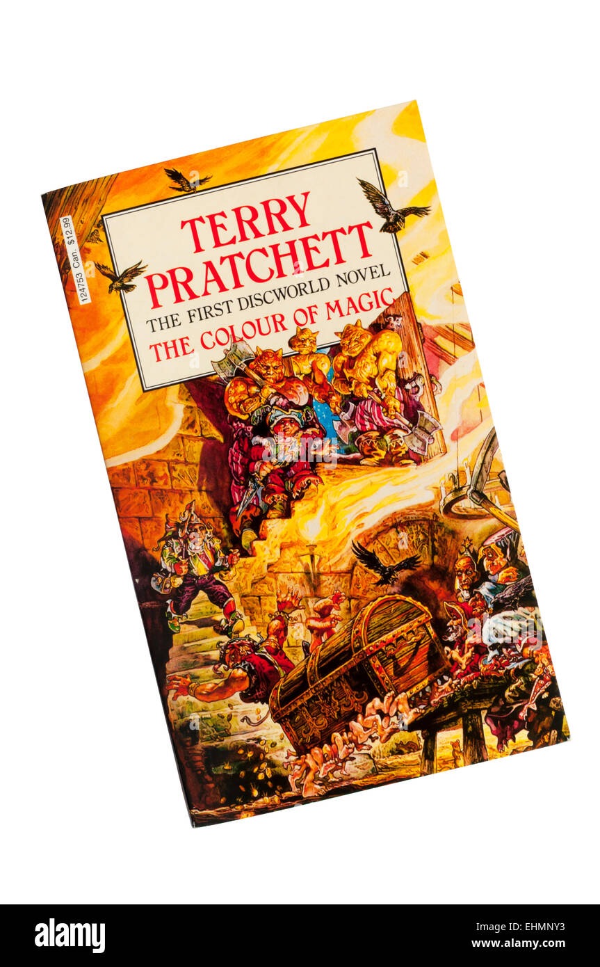 The Colour Of Magic Was The First Book In The Discworld Series By Stock Photo Alamy