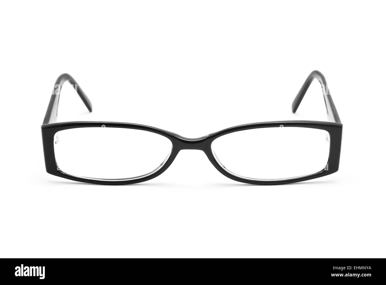 eyeglasses on white background - Stock Image
