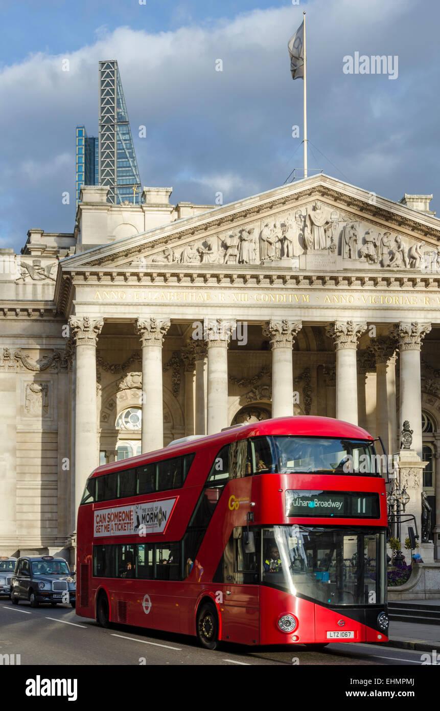 The Royal Exchange, London, UK - Stock Image
