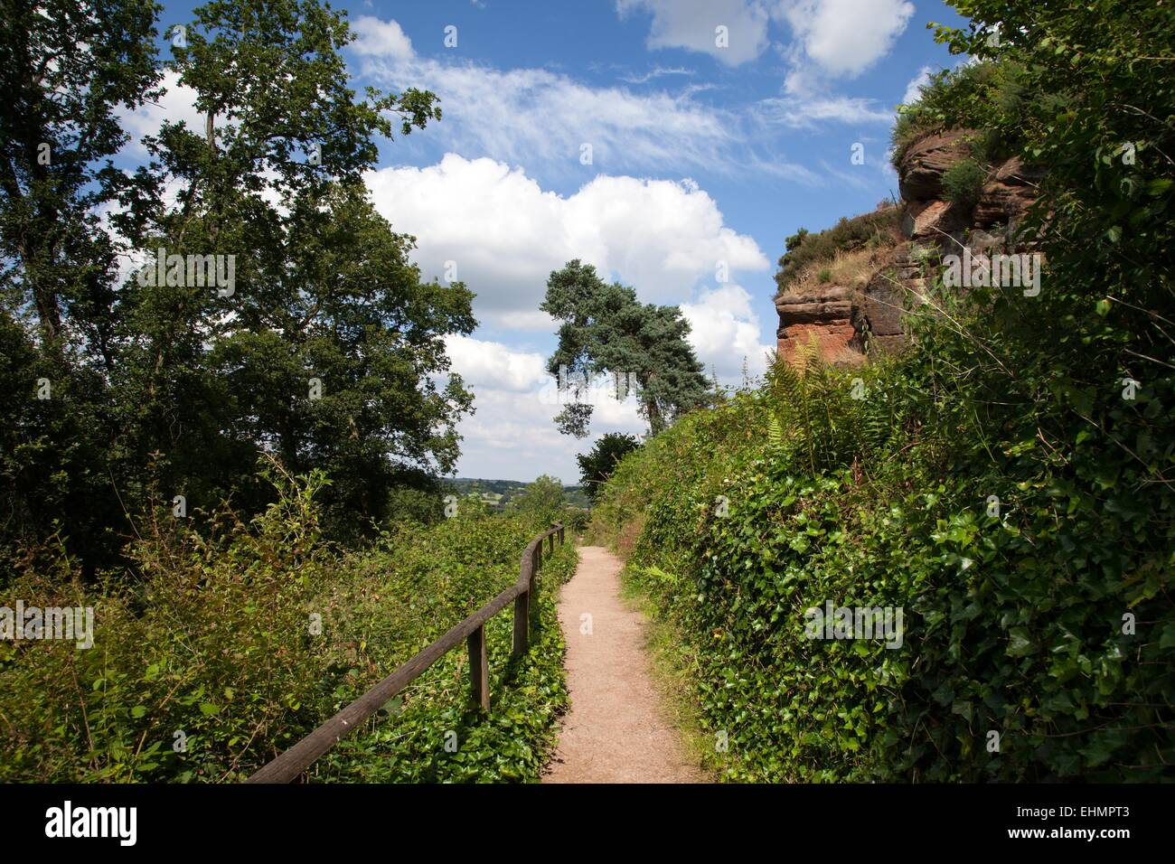 Walking in Kinver Edge, South Staffordshire - Stock Image