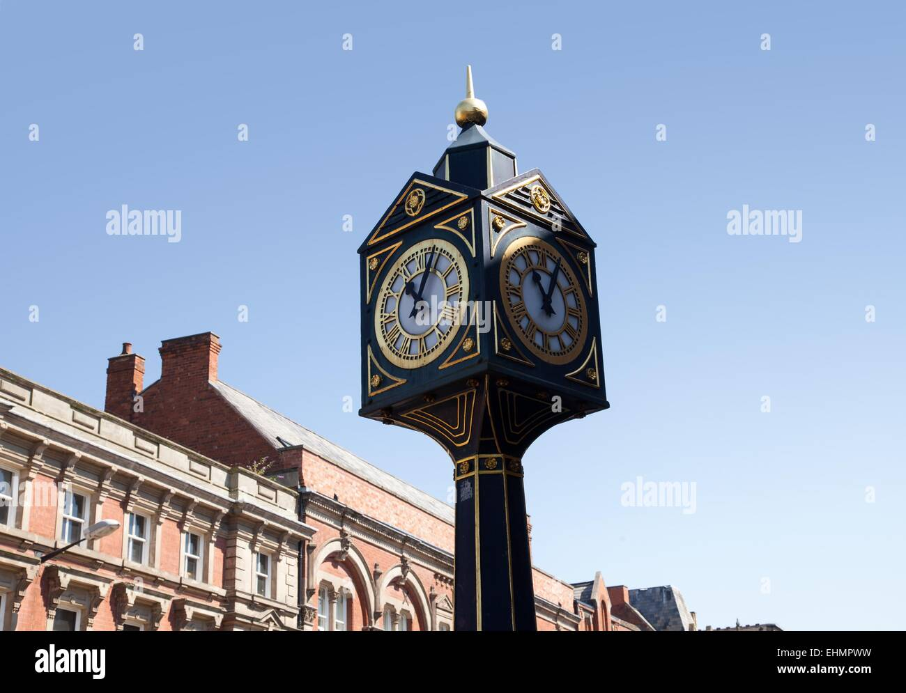 The Market Square clock, Walsall, West Midlands - Stock Image
