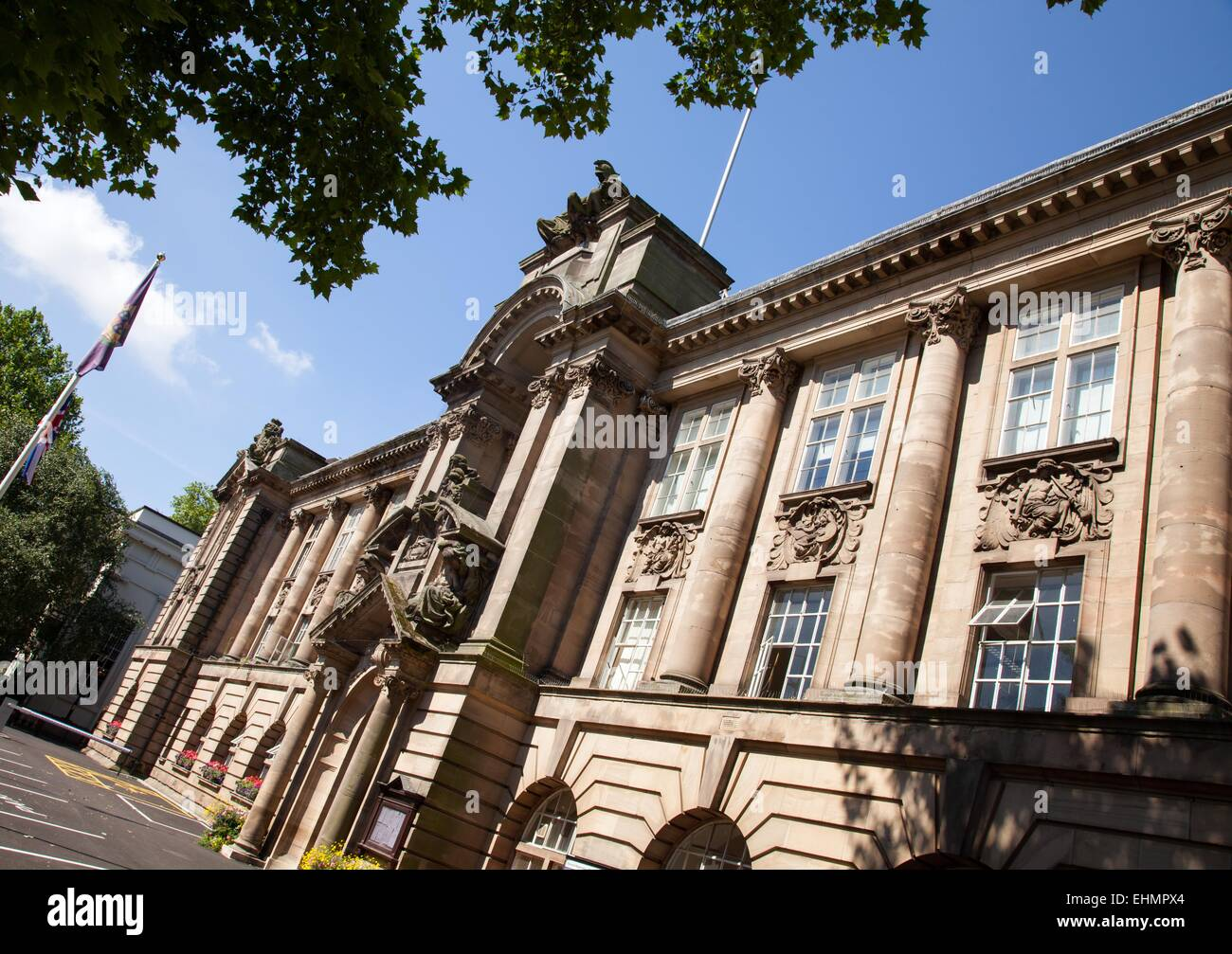 Walsall Town Hall, West Midlands - Stock Image