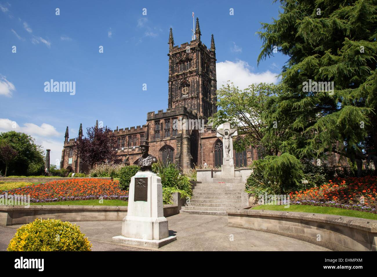 St Peter's church, Wolverhampton city centre - Stock Image