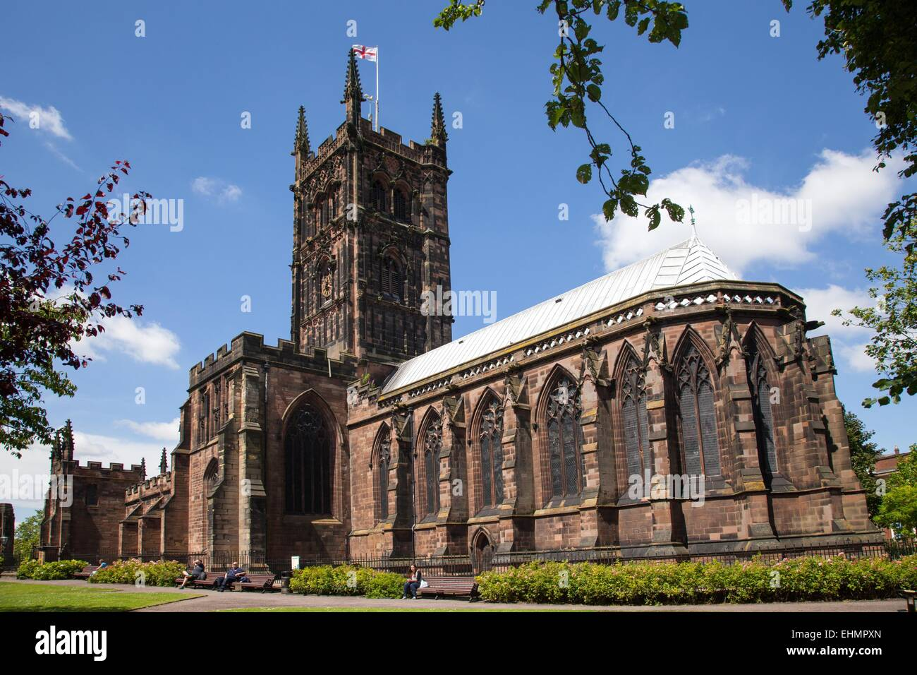 St Peter's church Wolverhampton  city centre - Stock Image