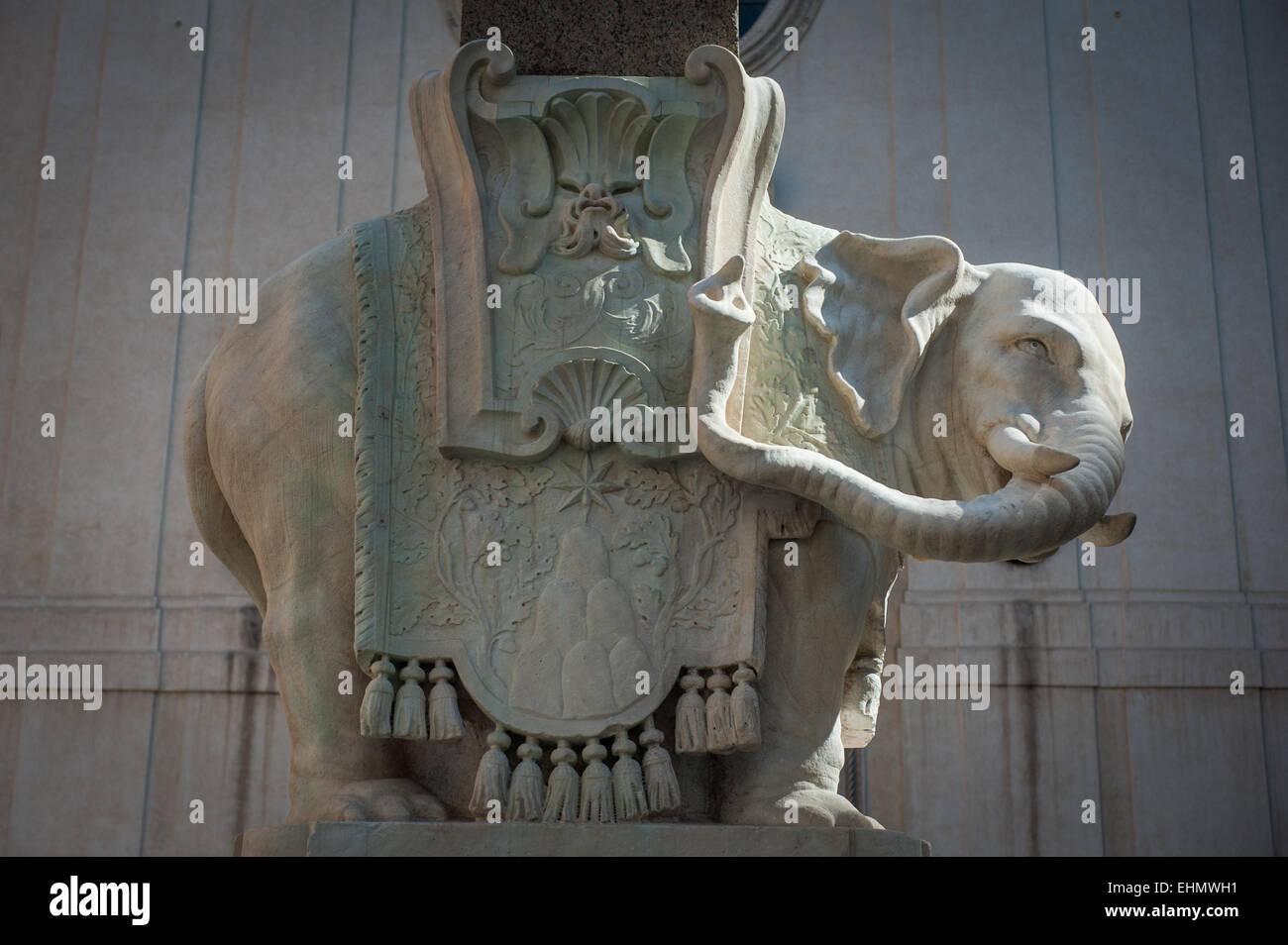 Obelisk of Santa Maria sopra Minerva, Piazza della Minerva, Rome, Lazio, Italy. Stock Photo