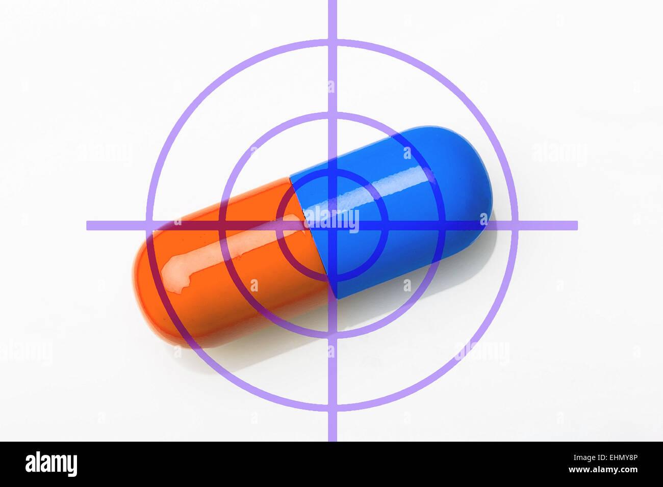 Illustration of the target drug. - Stock Image